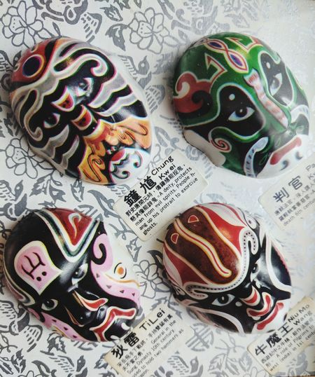Chinese Mask of Evil Spirits Mask_collection Chinese Spirits Chinese Culture Very Nice Indoors  No People Table Close-up Multi Colored Day