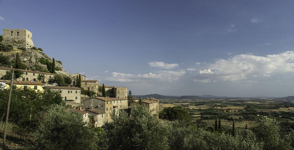 Panoramic shot of buildings against sky