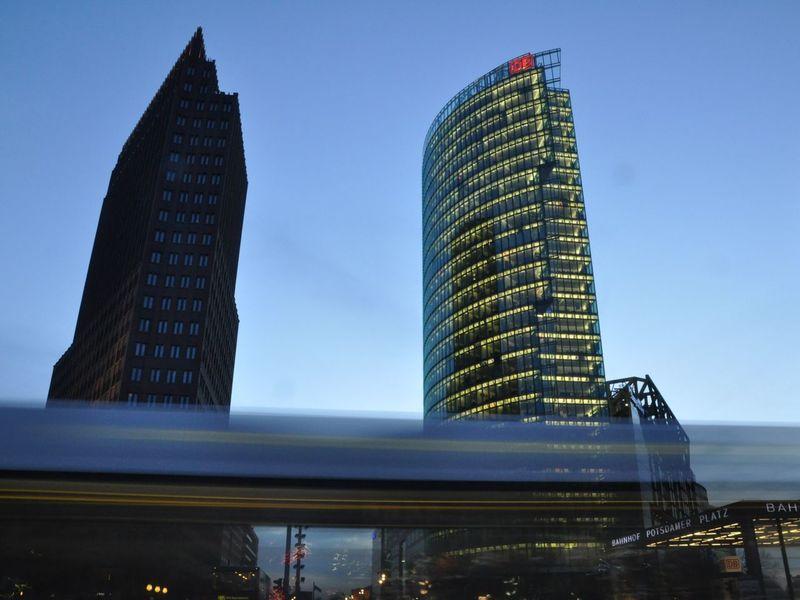 Berlin Berliner Ansichten Potsdamer Platz Blue Hour Streetphotography Photography In Motion Moving Traffic