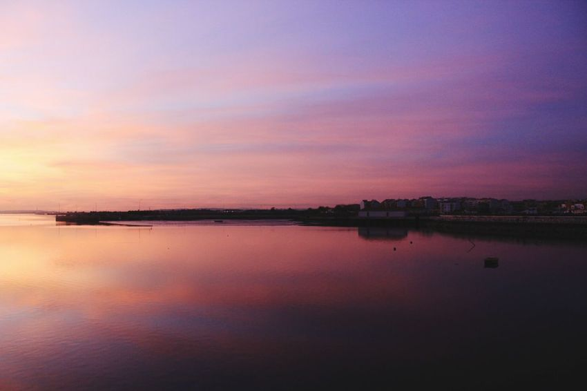 Sky colors Sky Outdoors Tranquility Reflection Sunset Water Beauty In Nature Nature No People Sunset Photography Canonphotography Tranquility Sunset Photographer Nature_collection Sunset_collection Beauty In Nature Love Photography Lake Scenics