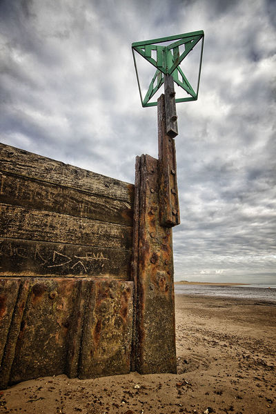 Beach Cloud Cloud - Sky Cloudy Groyne Norfolk Uk Outdoors Overcast Scenics Sky Tranquil Scene Wells-next-the-Sea Rusty Rust The Great Outdoors With Adobe The Great Outdoors - 2016 EyeEm Awards Fine Art Photography