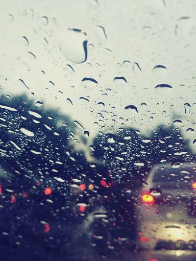Rain Rainy Days Raindrops Water Drops Rain Fall Traffic Traffic Jam Traffic Lights Bangkok Rush Hour Rush Hour Traffic Waiting Storm Raining Water Drop On Mirror Car Mirror MyCommute My Commute My Commute-2016 EyeEm Photography Awards