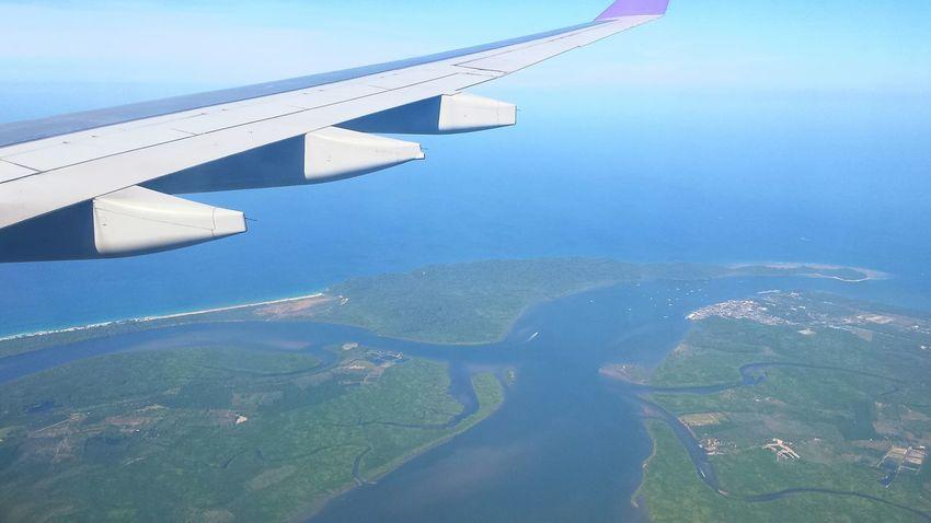 anflug phuket. kueste khao lak From An Airplane Window From The Plane Window Planes