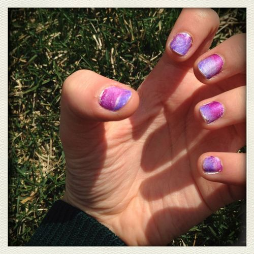 Galaxy and ombré nails Ombre Nails Galaxy Nails No Filter Spring Into Spring