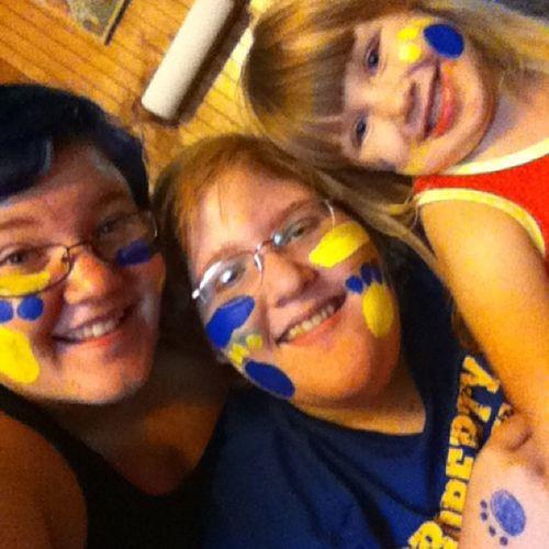 Before the game Bearcat_pride Sisters_and_babygirl Grafton_Bearcats !