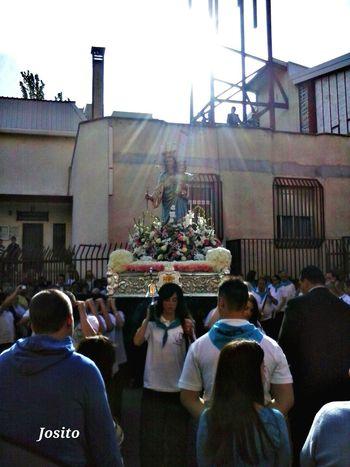 Procesión de Maria Auxiliadora en Barrio El Naranjo de Fuenlabrada The Purist (no Edit, No Filter)