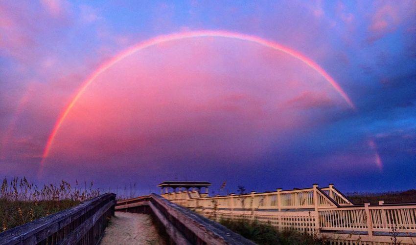 OBX Rainbow Beauty In Nature Tranquil Scene Beach Beach Life EyeEm Best Shots