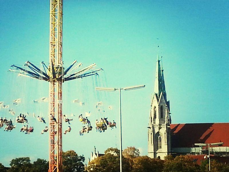 Oktoberfest 2014 Kettenkarussell Wiesn Sky Fun Oktoberfest Church