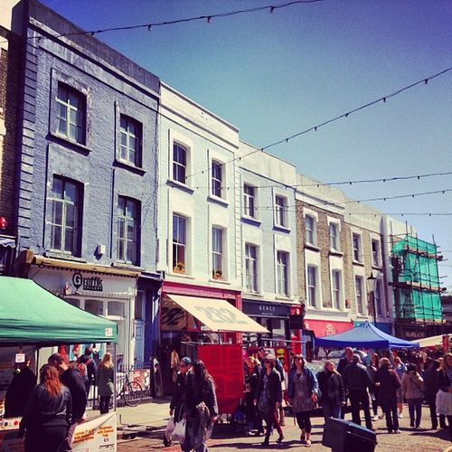 The lovely Terraced housing of Portobello Road Market . My first Instagram from IPhone .