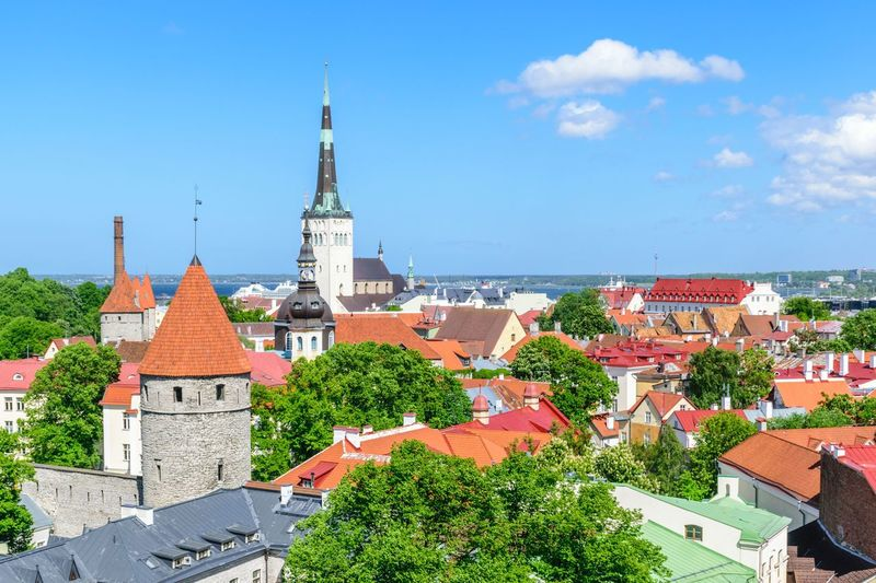 Tallinn Old Town, Estonia Tallinn Estonia St. Olaf's Church Estonia Baltic Kesklinn Architecture Building Exterior Place Of Worship Religion City No People Travel Skyline Tallinn Old Town Tourism Summer Cityscape