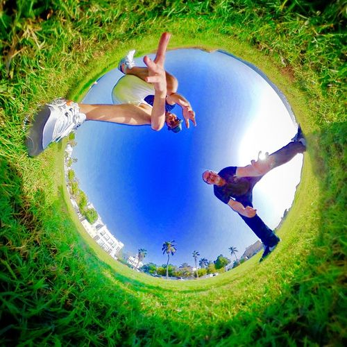 360° Grass Full Length Fun Outdoors Green Color Excitement 360° Pictures  Tiny Planet Samsung Gear 360