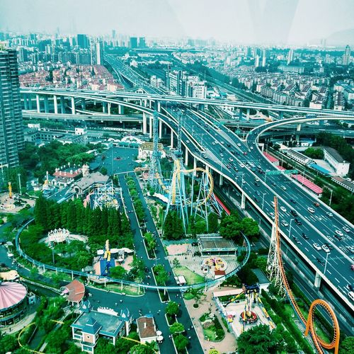Shanghai Streets Wheel Moloch From Above