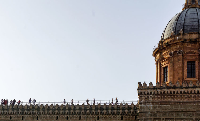 Silhouettes, Palermo, Italy Architecture Building Exterior Built Structure Sky Clear Sky Travel Destinations History The Past Dome Travel Tourism Place Of Worship Religion No People Silhouettes Spirituality City Palermo Sicily Blue Sky Terracotta