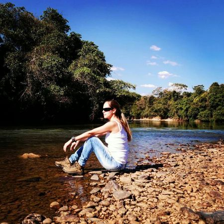 Self Portrait Around The World Brazil Cerrado Goias Selfies Nature_collection Nature River Trees Allnatureshots