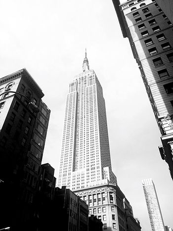 Architecture Skyscraper Low Angle View Building Exterior City Tower Sky Built Structure Outdoors No People Day Downtown District Empire State Building NYC NYC Street Photography 5th Ave Manhattan New York City Street Travel Destinations Urban Skyline Art Deco 5th Avenue Blackandwhite Newyorkcity