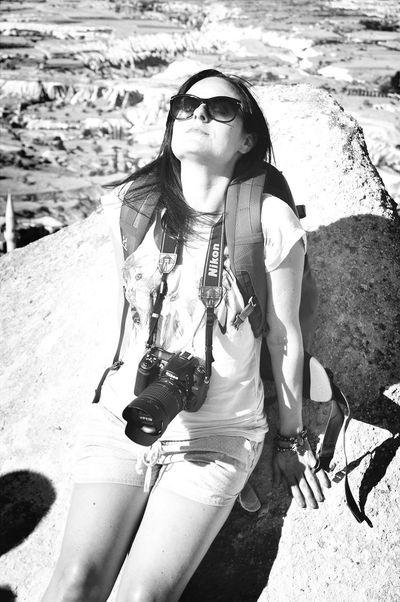 Relax in Kapadokya Kapadokya Turkey That's Me Blackandwhite