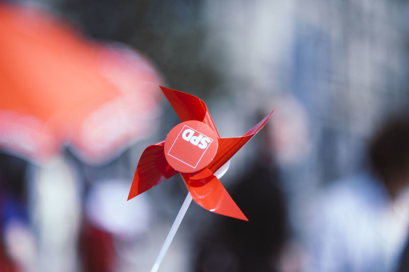 Political Party Socialist Realism Art And Craft Close-up Day Flag Focus On Foreground Fragility Nature No People Outdoors Pinwheel Toy Pride Red Selective Focus Sign Socialdemocracy Socialism Socialist Spd Success Toy