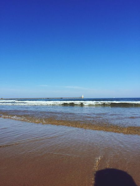 Hello World Relaxing Soaking Up The Sun Blue Sky Blue North East Northumberland Enjoying The Sun Sunshine Being A Beach Bum