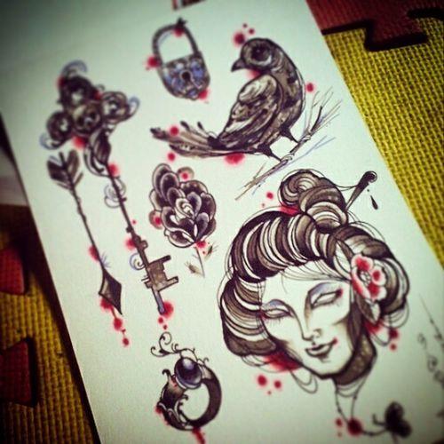 marker Tattooflash Neotraditionaltattoo Art Traditional