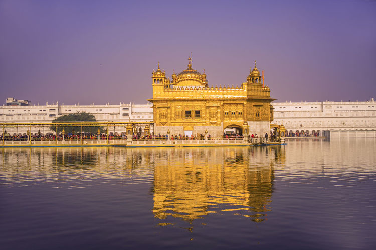 Reflection of golden temple in water