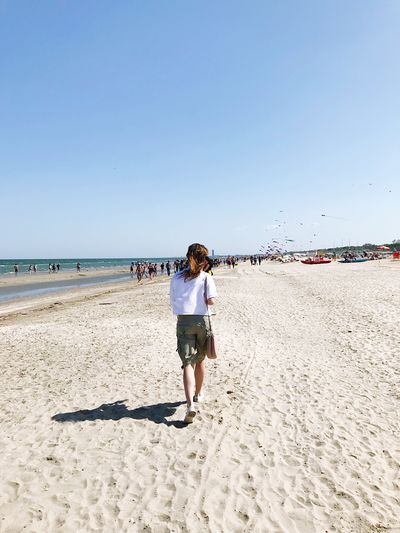 Beach Land Sky Sea Real People One Person Sand