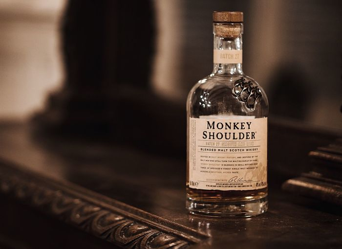 Every time she tryna sweep me off my feet Bottle Text Label Focus On Foreground Indoors  No People Close-up Day Alcohol Alcohol Bottles Spirituality Monkey Shoulder