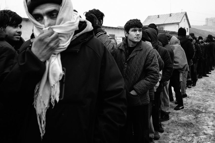January 2017. For several months, hundreds of young Afghans and Pakistanis have taken refuge in disused warehouses of the central station of Belgrade. While temperatures have recently dropped below -10 degrees Celsius, they are trying to survive in deplorable sanitary conditions. Belgrade Blackandwhite Camp Refugeecamp Refugees Refugees Crisis Serbia The Photojournalist - 2017 EyeEm Awards