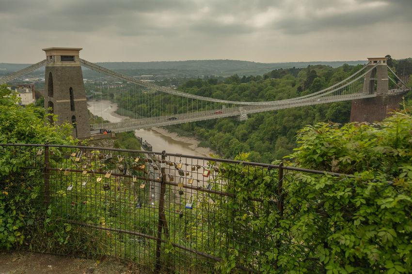 Clifton Suspension Bridge, Bristol UK. Bristol Bristol, England City Clifton Suspension Bridge Clouds Green Love Lock Lovelocksbridge Panoramic Photography