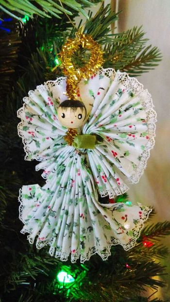 Angel doll ornament Angel Doll Ornament Handmade Hanging On The Tree Christmas Decorations Christmas Time Showcase: December