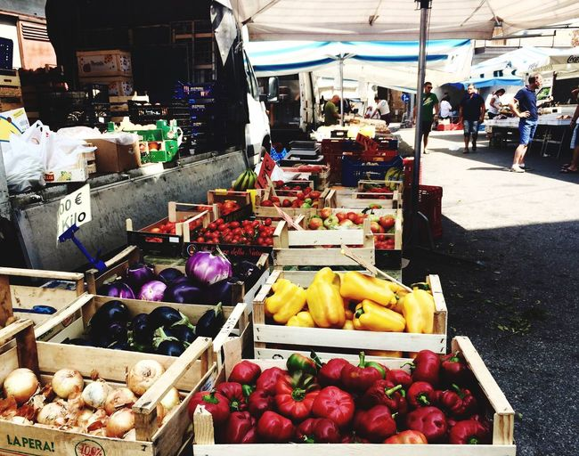 Day Market Market Stall Vegetable Food Freshness Healthy Eating Fruit Banana Abundance