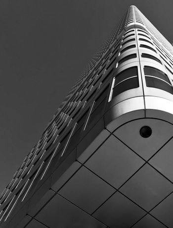 Deutschebahn HQ Bnw Blackandwhite Frankfurt Architecture Building Exterior Low Angle View Built Structure Modern Skyscraper Tower Day No People Sky City Outdoors Clear Sky Tall