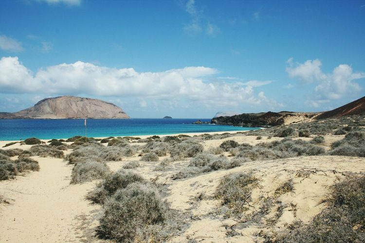 Scenics Beach Sand Nature Tranquility Sea Coastline Travel Destinations Horizon Over Water Postcard Landscape Sky Water Day Outdoors Beautiful Lifestyle Nature Freedom Nice Day Fun Wonderful La Graciosa Paradise Beach Sunlight