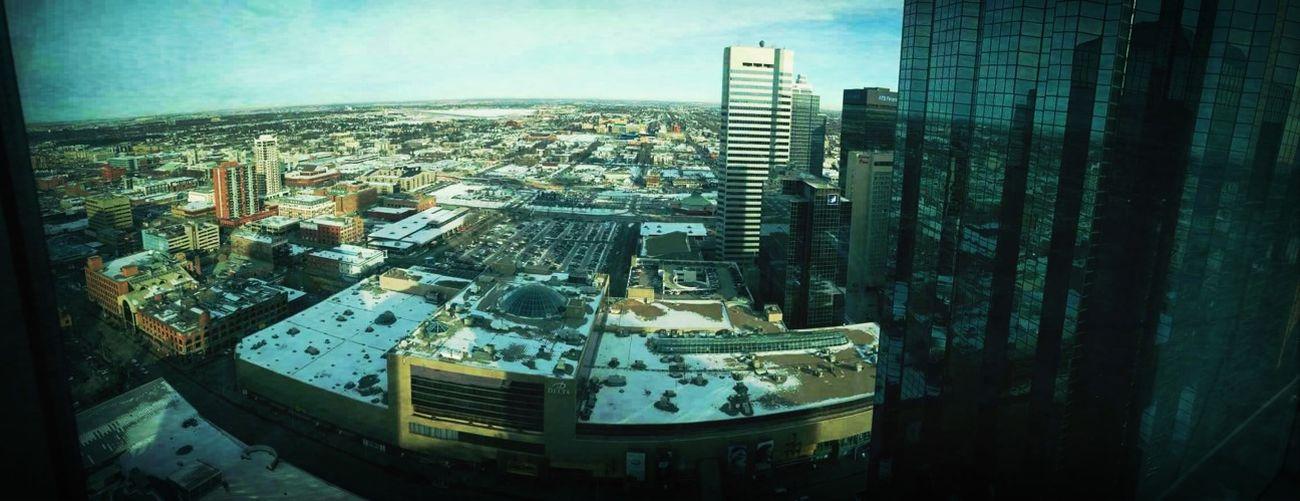 Panoramic view of downtown Edmonton