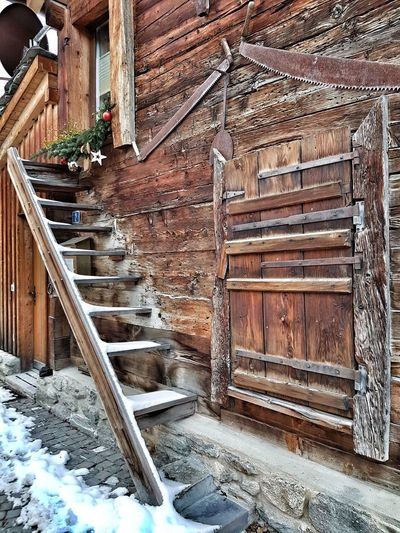 Echelles de Valais Steps And Staircases Steps Door Architecture Building Exterior Built Structure Entryway Stairs Wall Closed Door
