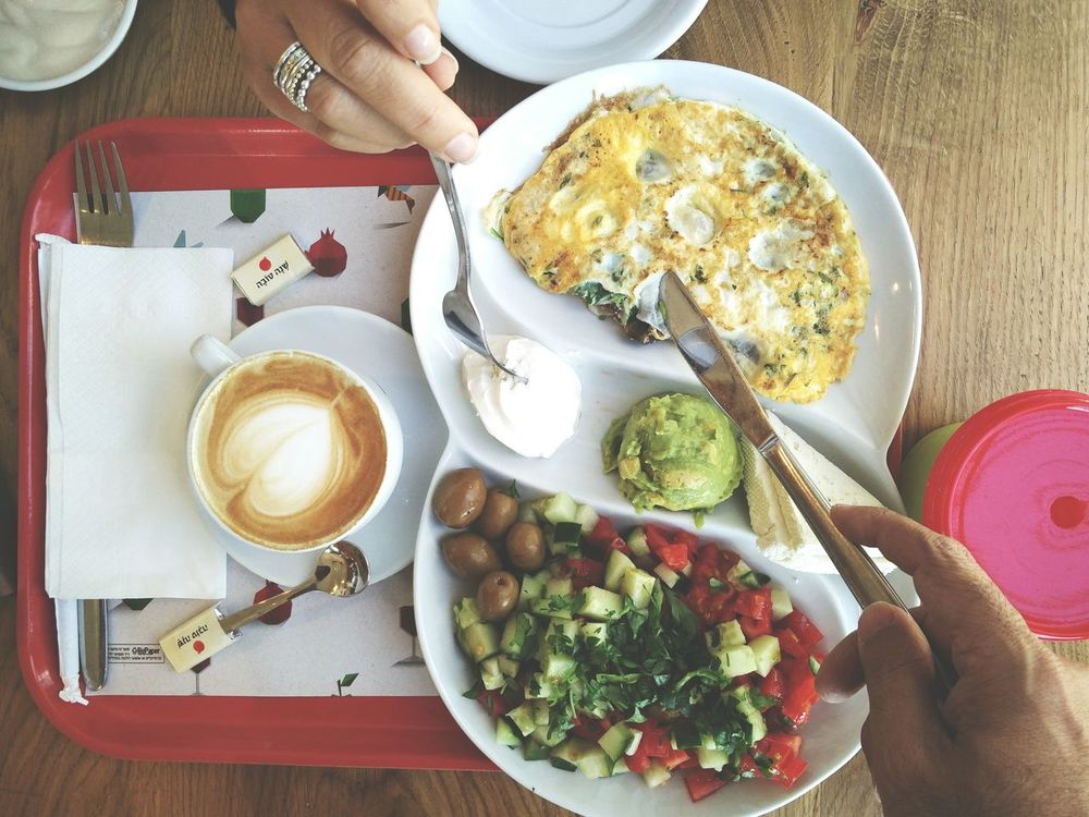 ShareTheMeal Food And Drink Coffee - Drink Healthy Eating Person Table High Angle View Drink Freshness Breakfast Plate Indoors  Ready-to-eat Horizontal Food People Adult Breakfast Breakfast ♥