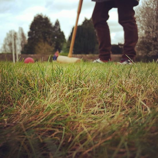 Agriculture Field Growth Nature Rural Scene Outdoors Day Grass Landscape Beauty In Nature Sky One Person People Croquet Lawn Lawn Game