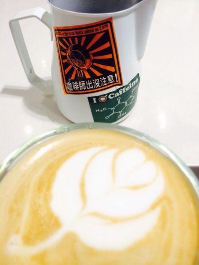 彭艾迪特調 咖啡師出沒注意 拉花 等一個人咖啡