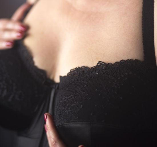 Close-Up Of Woman Wearing Bra