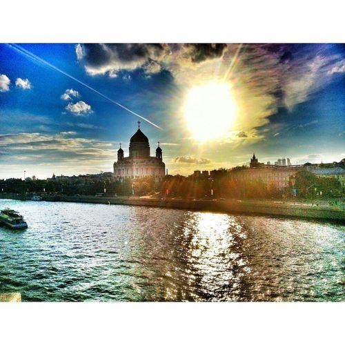 Кафедральный Соборный храм Христа Спасителя Moscow Russia Skyscape