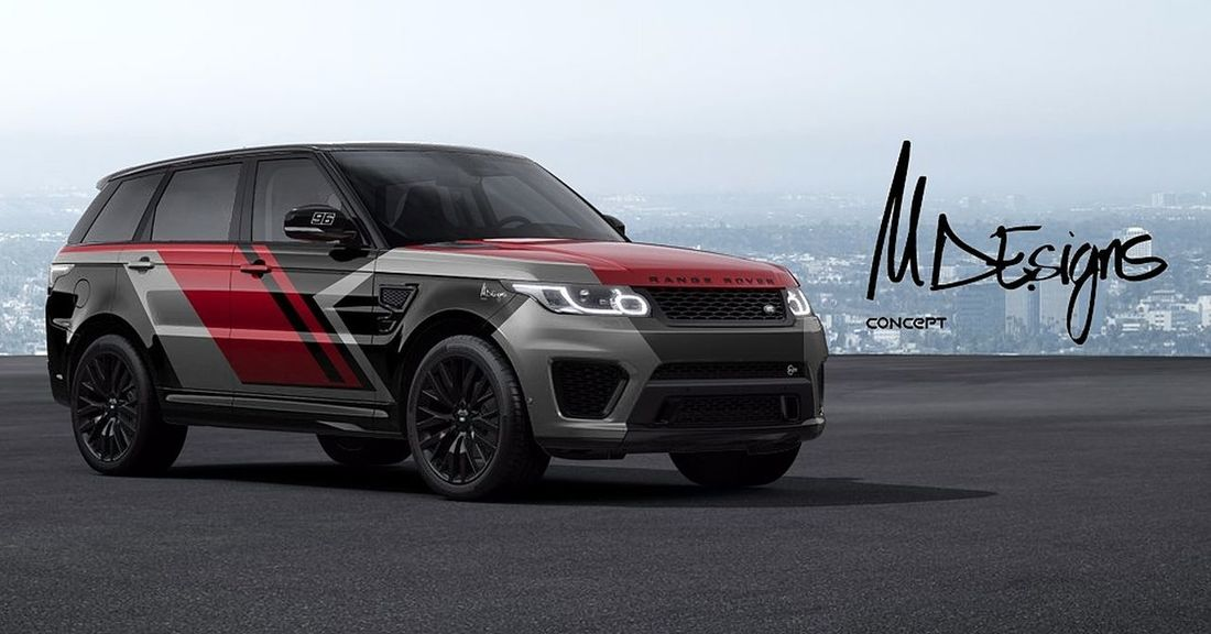 Car Diseño Designer  Laklines Own Style  Spain🇪🇸 Gear Red Adventure Card Design Range Rover Sport