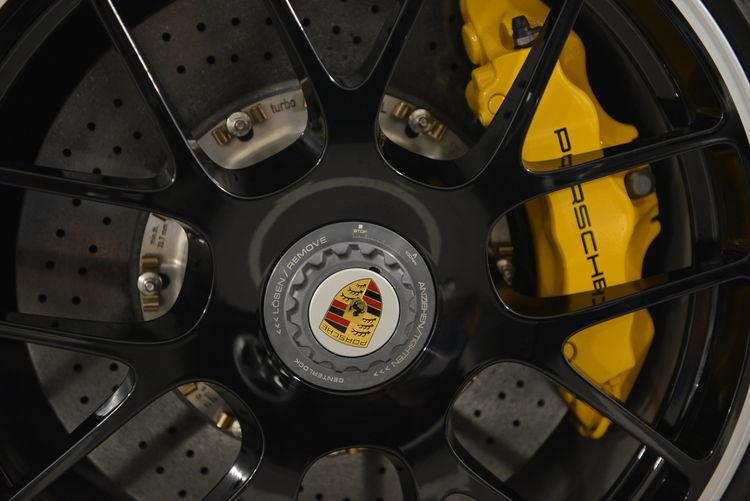 Porsche Porsche 911 Wheel Brake Close-up Full Frame High Angle View Mode Of Transportation Porsche911 PorscheDesign Still Life Technology Tire Transportation Yellow