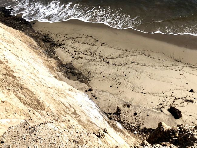 Beach at UCSB IPhone X IPhone Photography Iphonephotography IPhoneography Beautiful Nature Beauty In Nature Looking Down From Above Looking Down Cliff Ocean View Ocean View Ocean Wave Beach Planet Earth Dune Wave Beach Sand Power In Nature