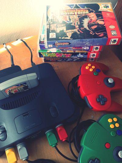 Nintendo 64 Playin N64 Retrogaming Enjoying Life Color