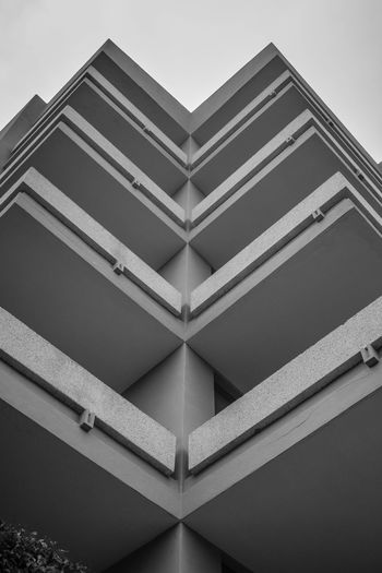 Black & White Textures Architecture Black And White Black And White Friday Building Exterior Built Structure Clear Sky Day Low Angle View Monochrome No People Outdoors Sky The Graphic City