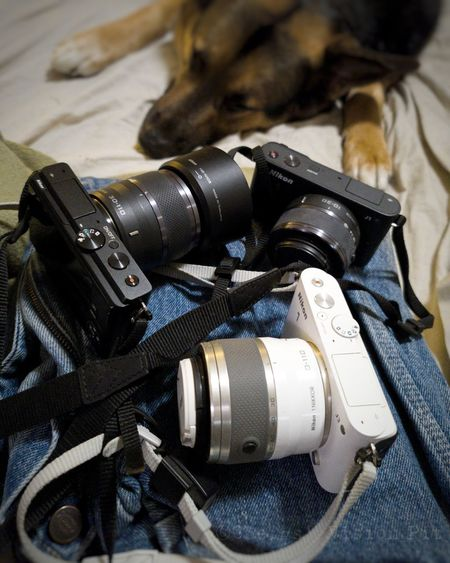 High angle view of camera machine