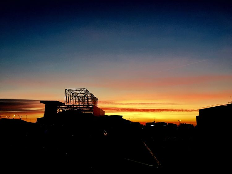 Sunrise over the city. Nature Outdoors Sky Sunset Silhouette Architecture Built Structure Orange Color Building Exterior No People Beauty In Nature Day EyeEm Nature Lover Nature Photography From My Point Of View in Brianza