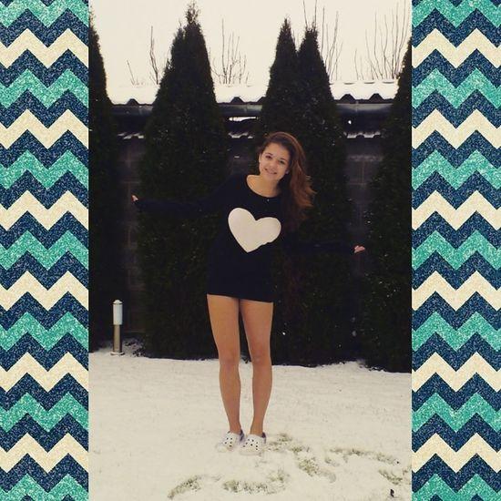 Me Love Girl Cold Winter ❄⛄