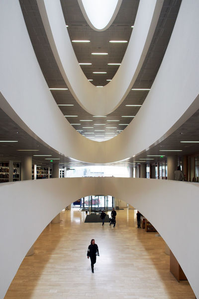 Helsinki Library Architecture Built Structure Indoors  Modern