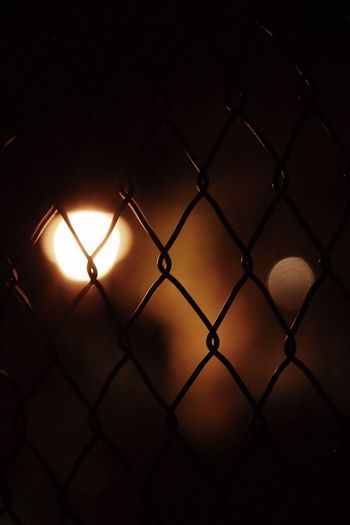 Chainlink Fence Fence Illuminated No People Safety Barrier Metal Close-up Boundary Protection Security Lighting Equipment Nature Night Pattern Full Frame Outdoors Light