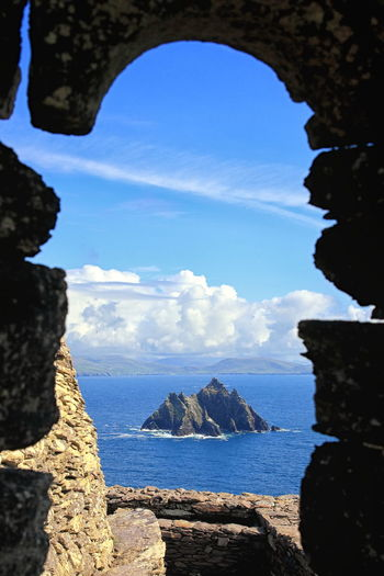 View from Skellig Michael to Little Skellig in County Kerry, Ireland, Europe Atlantic Ireland Michael Monastery Portmagee Puffin Rock Travel View Destination Europe Heritage Irish Island Kerry Little Nature Ocean Rock Formation Skellig Skellig Islands Star Tourism Unesco World Heritage Wars